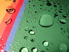 Drops On The Rainbow Royalty Free Stock Photography
