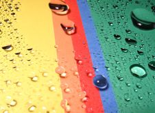 Drops On The Rainbow Royalty Free Stock Photo