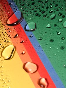 Drops On The Rainbow Royalty Free Stock Image