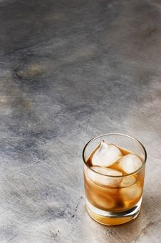 Whiskey On The Rocks Stock Image
