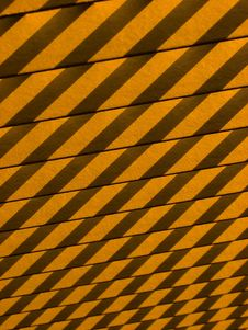 Shadows On Wooden Slats Stock Photography