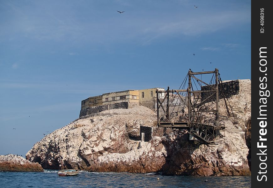Guano collection structures at Islas Ballestas