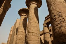 Columns In Karnak Temple Stock Photography