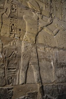 Fresco In Karnak Temple Royalty Free Stock Photo