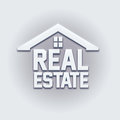 Free Real Estate House Card Sign. Stock Image - 40994901
