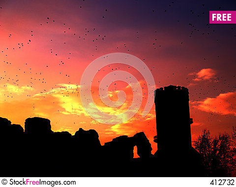 Free Sunset Tower Stock Photography - 412732