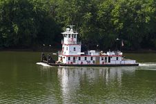 Tug Boat On River Stock Images