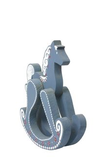 Free Blue Wooden Rocking Horse Royalty Free Stock Photos - 411318