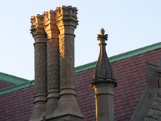 Columns On Roof. Stock Photo