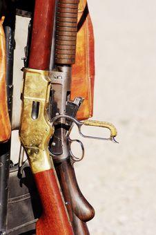 Rifles And Shotguns Royalty Free Stock Photos