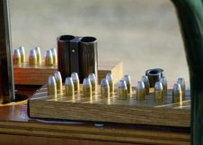 Guns And Shells Royalty Free Stock Photo