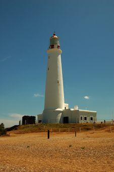 Free White Lighthouse Royalty Free Stock Image - 417286