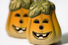 Free Smiley Ceramic Jack-O-Lantern Stock Image - 418951