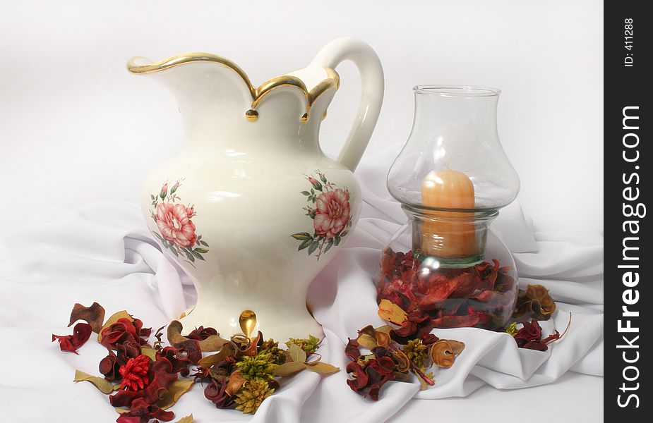 Pitcher and Candle
