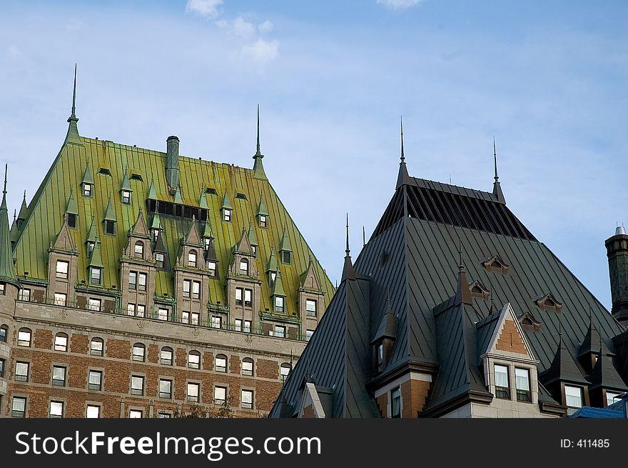 Colonial buildings roof