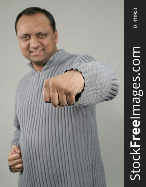 Man punching