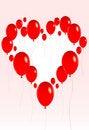 Free Valentine Balloons 2 Stock Photography - 4100862