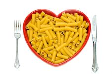 Free Heart Dish Of Pasta Stock Photos - 4100973