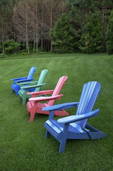 Free Painted Chairs Royalty Free Stock Image - 4101256