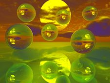 Free Mirror Balls Royalty Free Stock Photography - 4101777