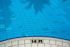 Free Swimming Pool And Marking In The Hotel Stock Image - 4101881