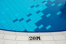 Free Swimming Pool And Marking In The Hotel Royalty Free Stock Photo - 4101885