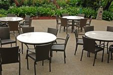 Free Table And Chair At The Eatery Royalty Free Stock Image - 4101976