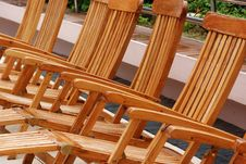 Free Wooden Chair At The Pool Side Royalty Free Stock Photos - 4101978