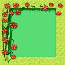 Free Spring Floral Frame Royalty Free Stock Photo - 4102595