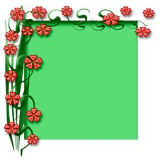 Free Spring Floral Frame Royalty Free Stock Photography - 4102597