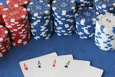 Free Four Aces Royalty Free Stock Photo - 4103235