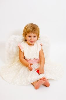 Free St. Valentine S Day Angel Girl Stock Photography - 4103992
