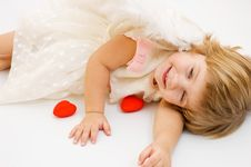 Free St. Valentine S Day Angel Girl Royalty Free Stock Photos - 4104038