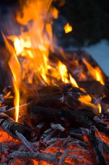 Free Burning Embers Fireplace Abstract Background Stock Photo - 4104070