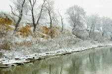 Free Winter Danube River Bank Landscape Stock Photos - 4104093