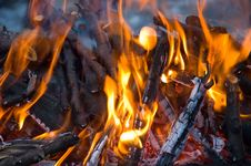 Free Burning Embers Fireplace Abstract Background Royalty Free Stock Image - 4104106