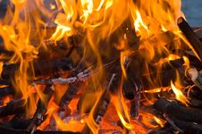 Free Burning Embers Fireplace Abstract Background Stock Image - 4104121