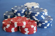 Free Pokerchips Royalty Free Stock Photos - 4104208