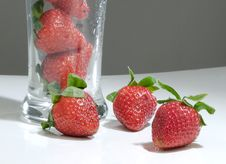 Glass Of Strawberry Stock Photo