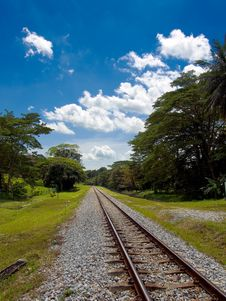 Free Railway TRack Royalty Free Stock Photos - 4104858