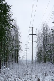 Free High Voltage Line Stock Photos - 4104873