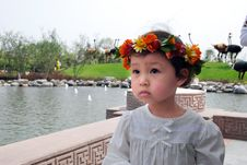Free Lovely Child With A Coronet Of Flowers Royalty Free Stock Image - 4104946