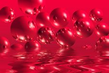 Free Red Bubbles Royalty Free Stock Photo - 4105065