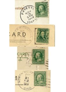 Free 4 USA Stamps 1909-1912 Stock Photos - 4105543