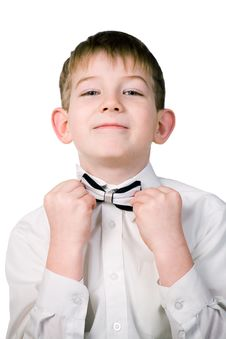 Free The Boy In A Business Suit Stock Image - 4106561