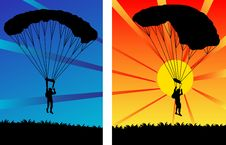 Free Parachutists Stock Photo - 4106640