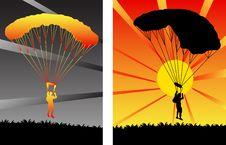 Free Parachutists Stock Photo - 4106660