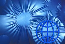 Free Blue Global Background / Design Royalty Free Stock Photos - 4106928