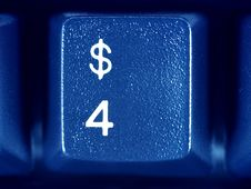 Free Keyboard Dollar Key Close-up Stock Photo - 4107050