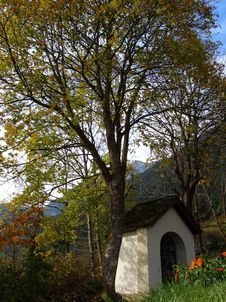 Small Chapel In Mountains Royalty Free Stock Photos
